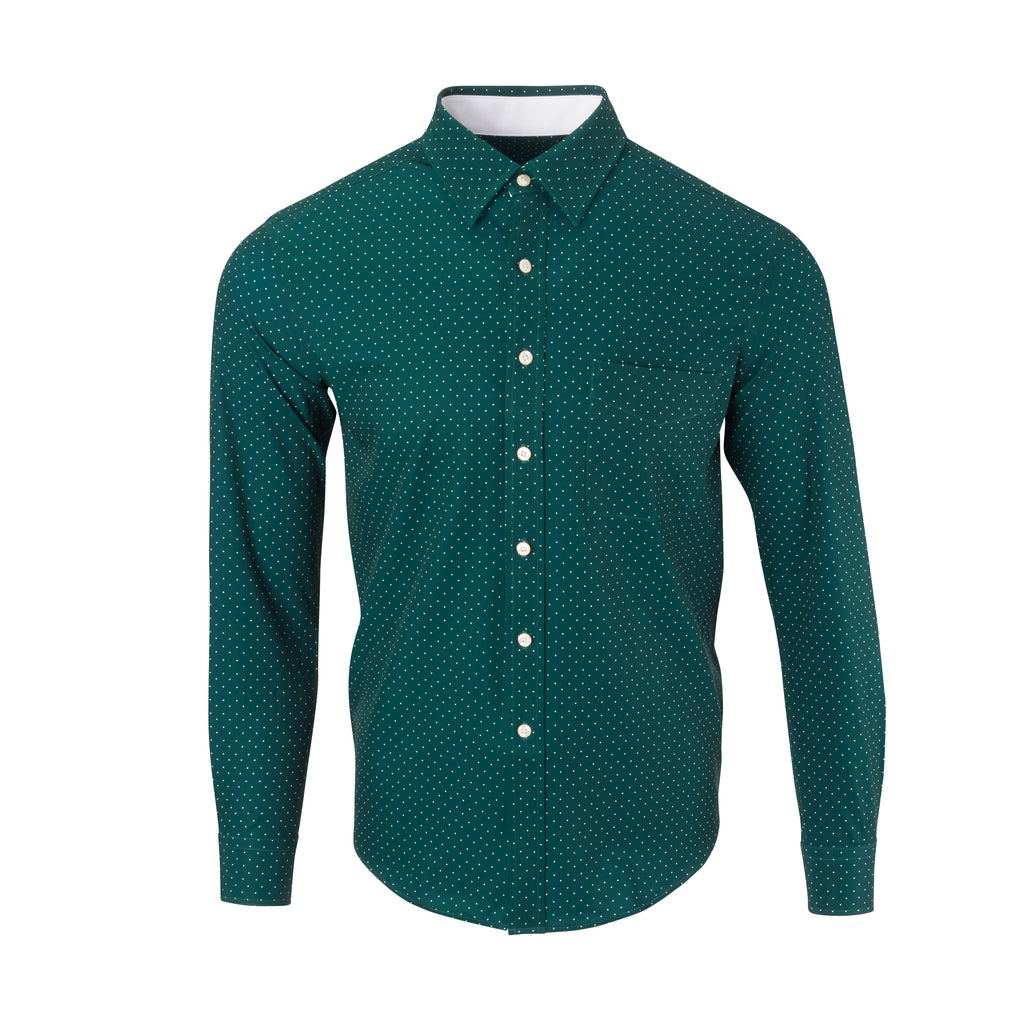 THE BOSS LECKER DOT SPORT SHIRT - IS92311 Pine