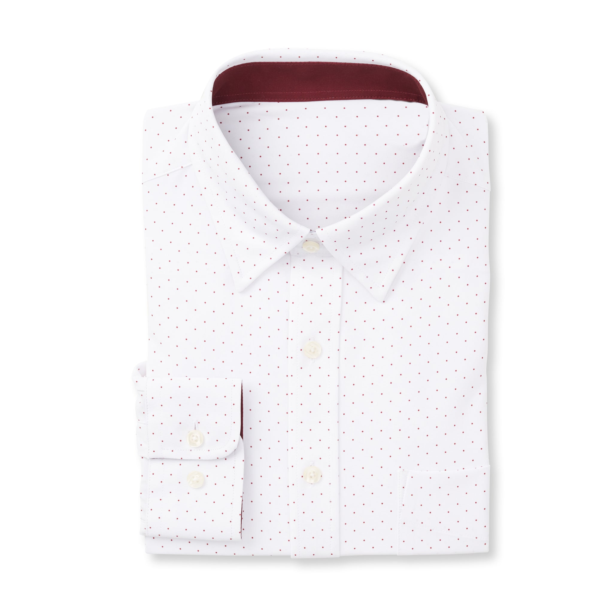 THE BOSS LECKER DOT SPORT SHIRT - IS92311 White/Merlot