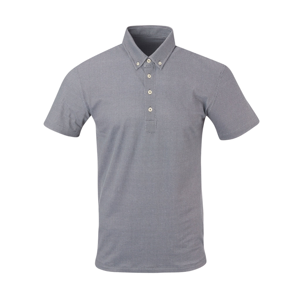 THE STEWART LUXTEC HONEYCOMB POLO - Black/Cloud IS92450
