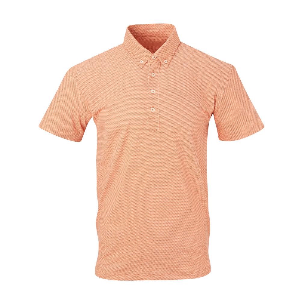 THE STEWART LUXTEC HONEYCOMB POLO - Burnt Orange/White IS92450