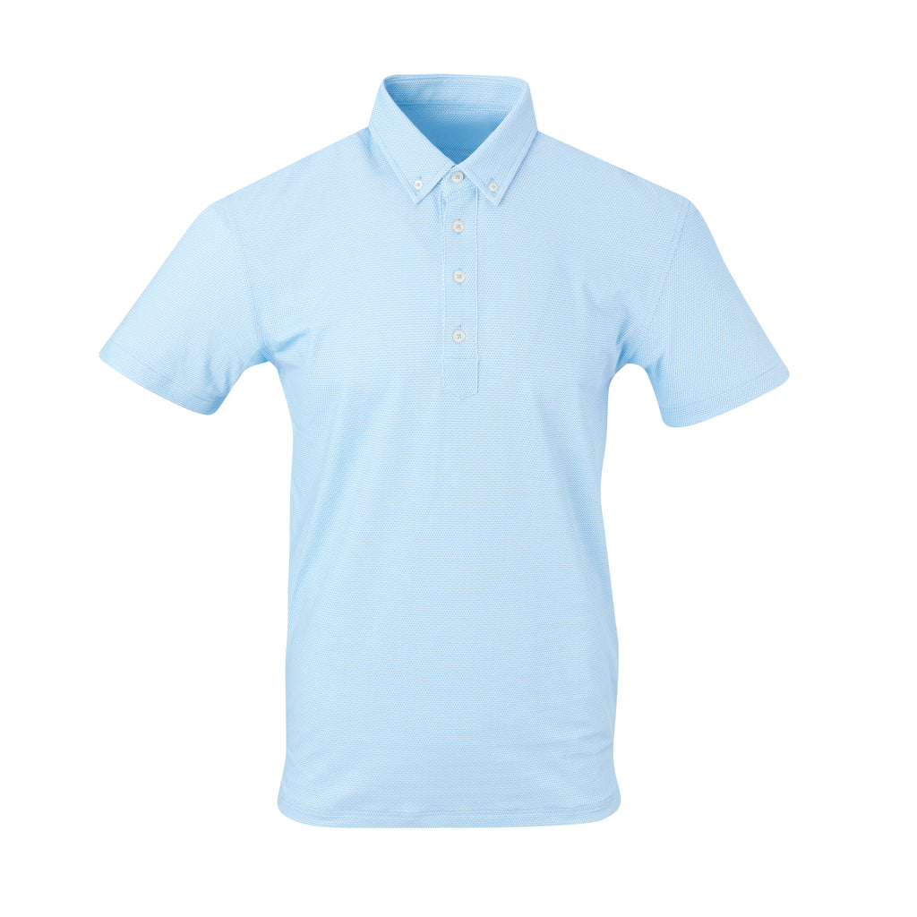 THE STEWART LUXTEC HONEYCOMB POLO - Maui/White IS92450