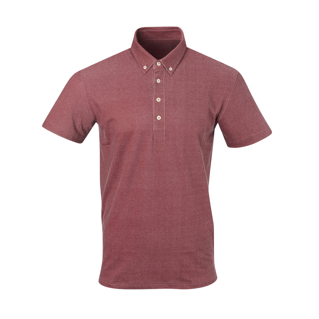 THE STEWART LUXTEC HONEYCOMB POLO - Merlot/Black IS92450