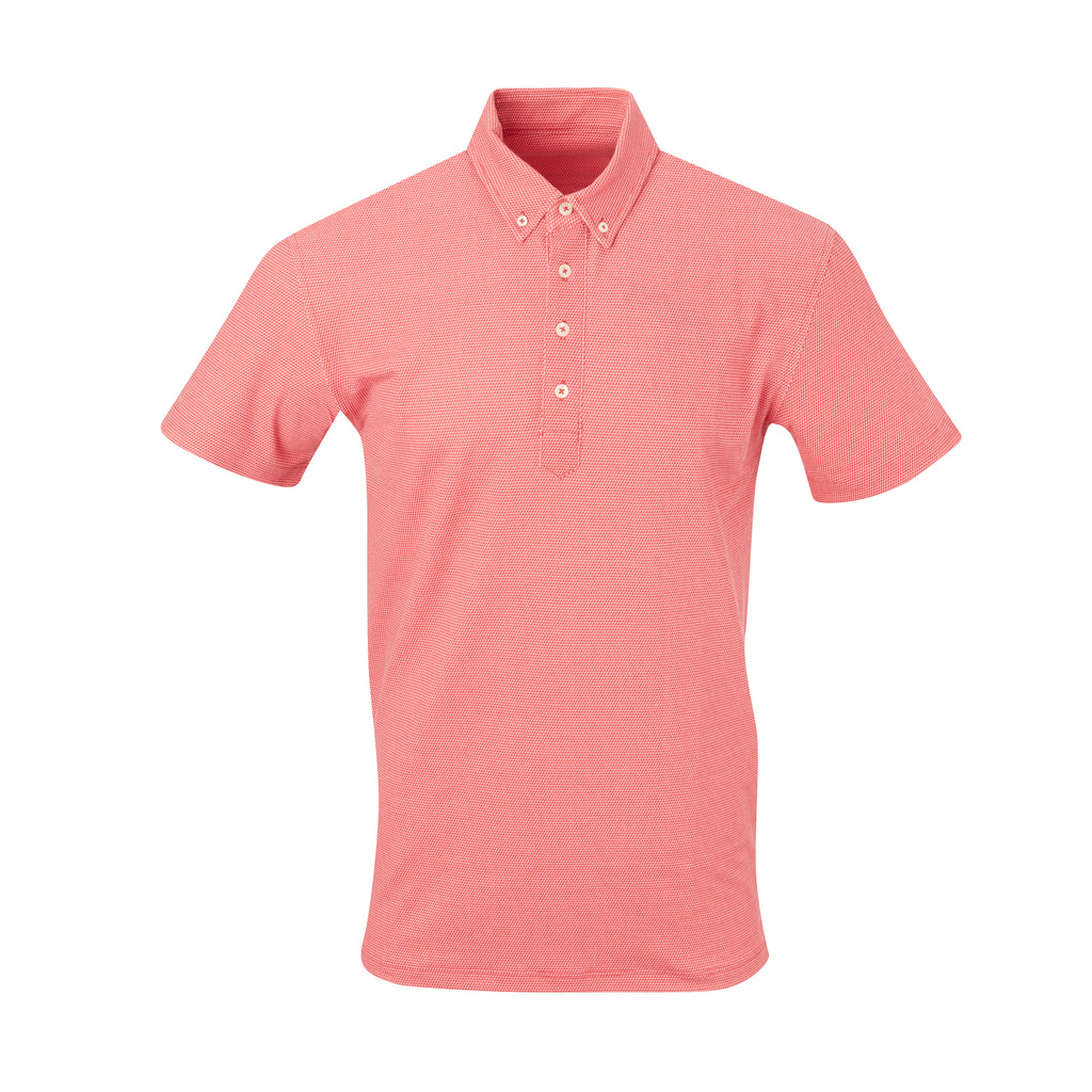 THE STEWART LUXTEC HONEYCOMB POLO - Patriot Red/Cloud IS92450