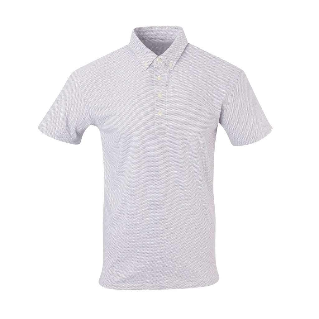 THE STEWART LUXTEC HONEYCOMB POLO - White/Black IS92450