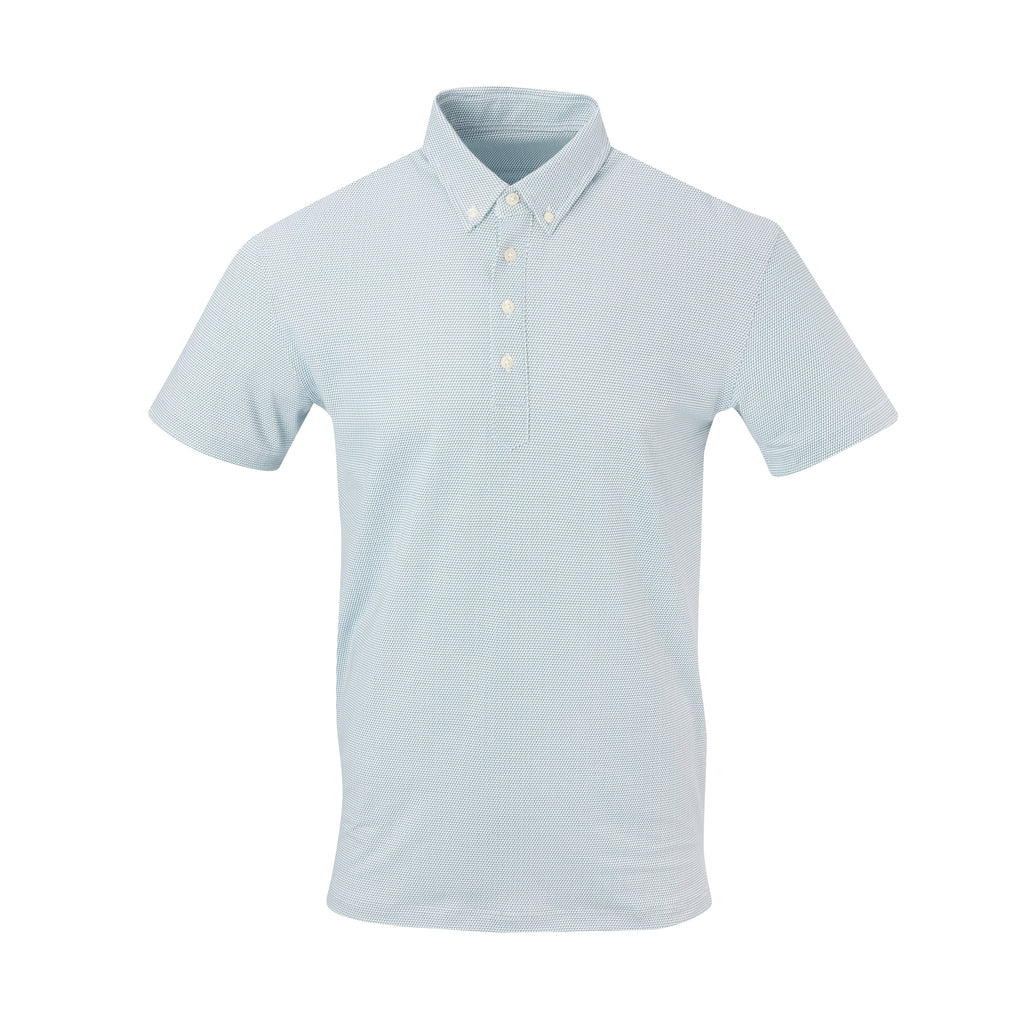 THE STEWART LUXTEC HONEYCOMB POLO - White/Pine IS92450