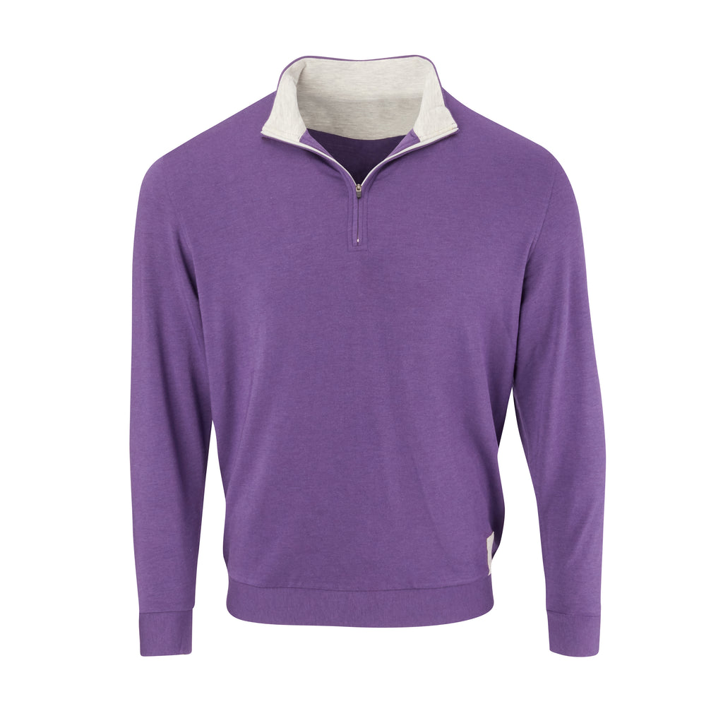 THE BEACHWOOD CASHTEC HALF ZIP PULLOVER - Berry/Cloud IS95620HZ