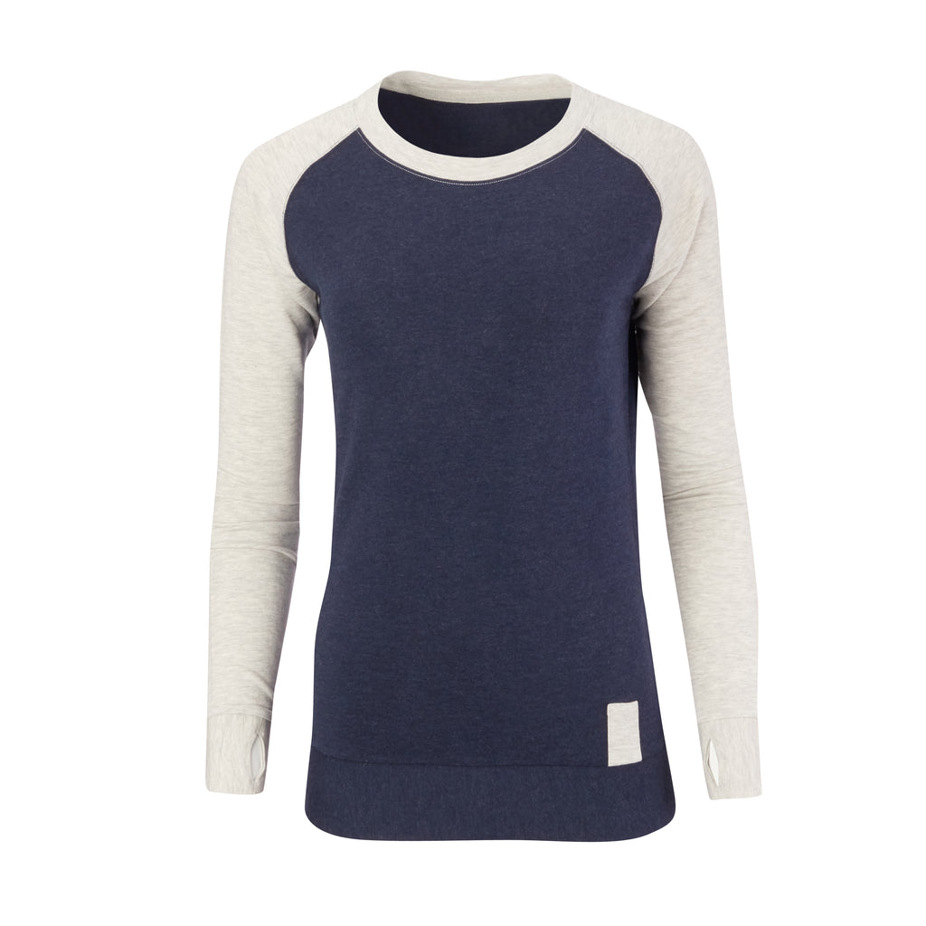 THE BEACHWOOD WOMEN'S CASHTEC RAGLAN SWEATSHIRT - Navy/Cloud IS95621W