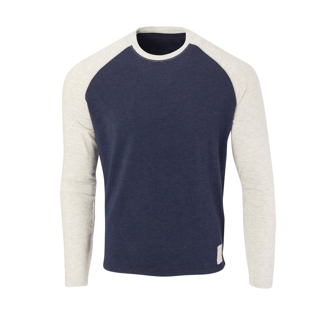 THE BEACHWOOD CASHTEC RAGLAN SWEATSHIRT - Navy/Cloud IS95621