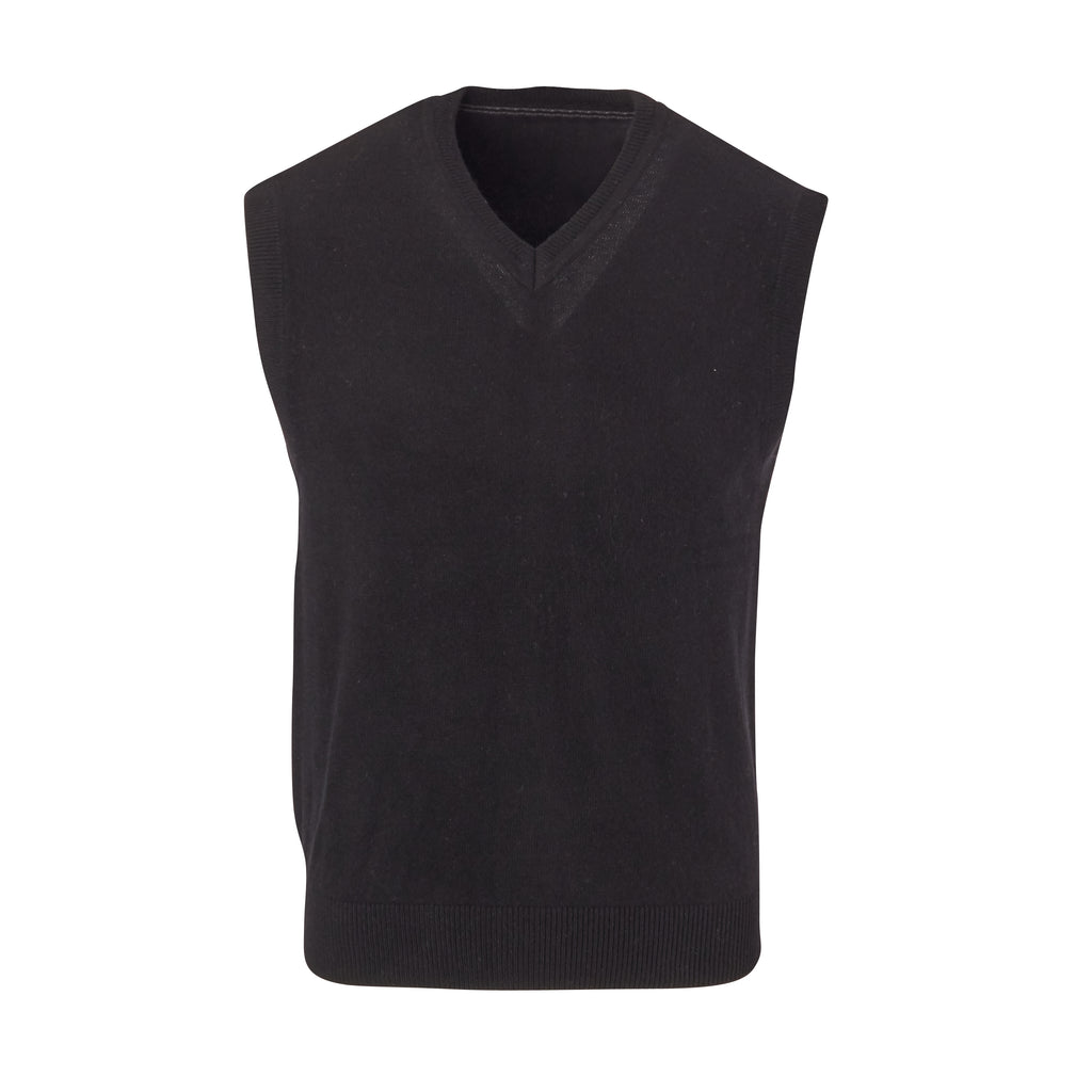 THE WEAVER CASHMERE VEST - Black OS35709VES