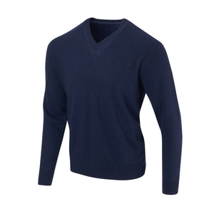 THE 5TH AVENUE CASHMERE V-NECK SWEATER - Navy OS35709VLS
