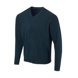 THE 5TH AVENUE CASHMERE V-NECK SWEATER - Peacock OS35709VLS