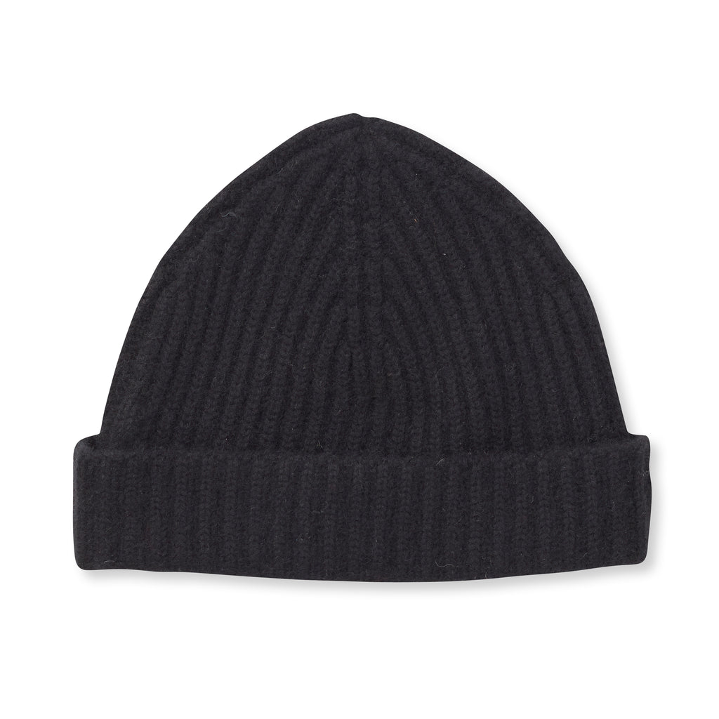 THE STOW CASHMERE CAP - Black OS35779CAP