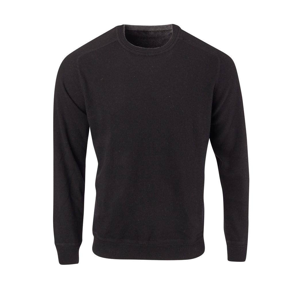 THE MADISON CASHMERE  CREW NECK SWEATER - Black OS85709CLS