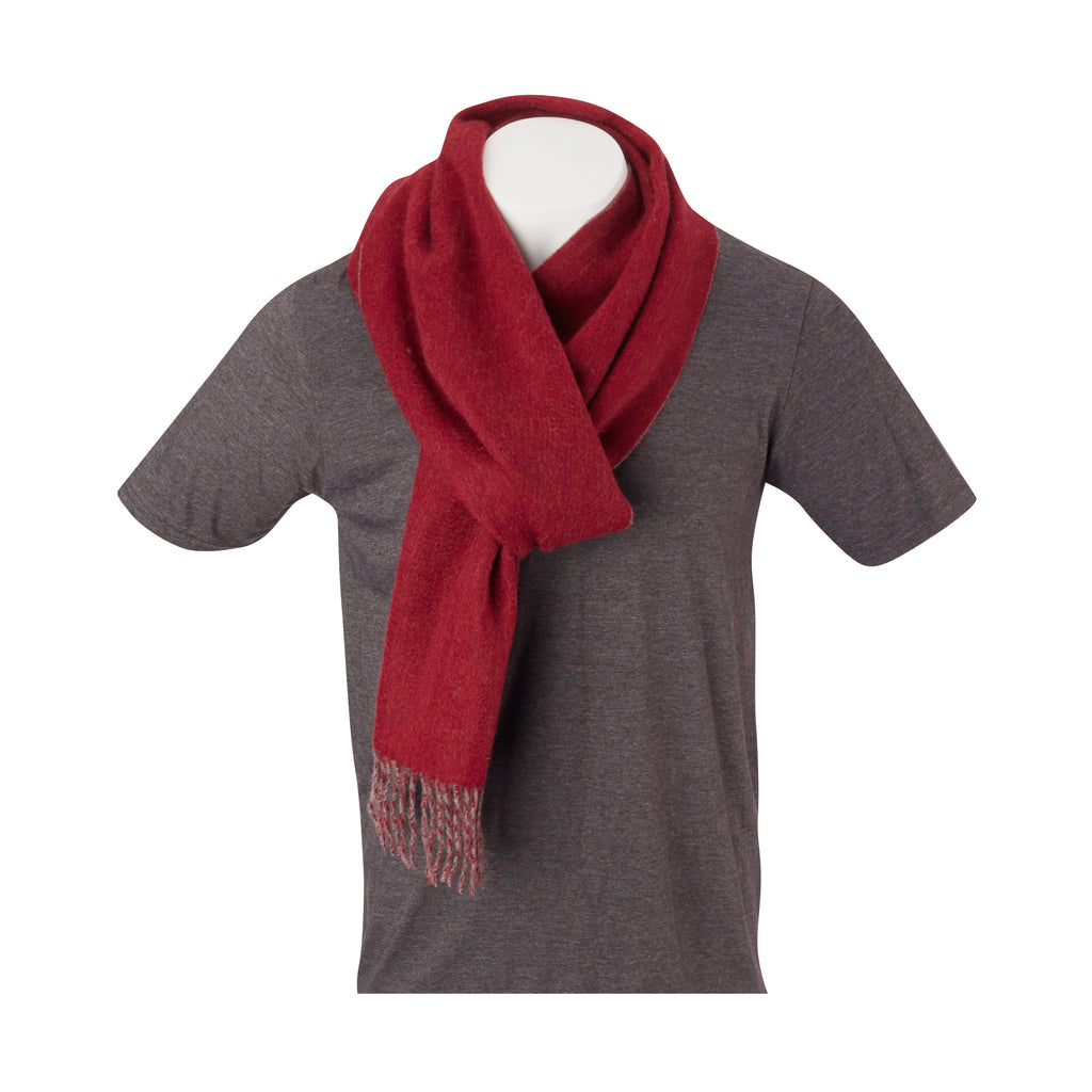 THE CROSBY CASHMERE  DOUBLE FACED SCARF - Merlot/Granite OS85779SCRF
