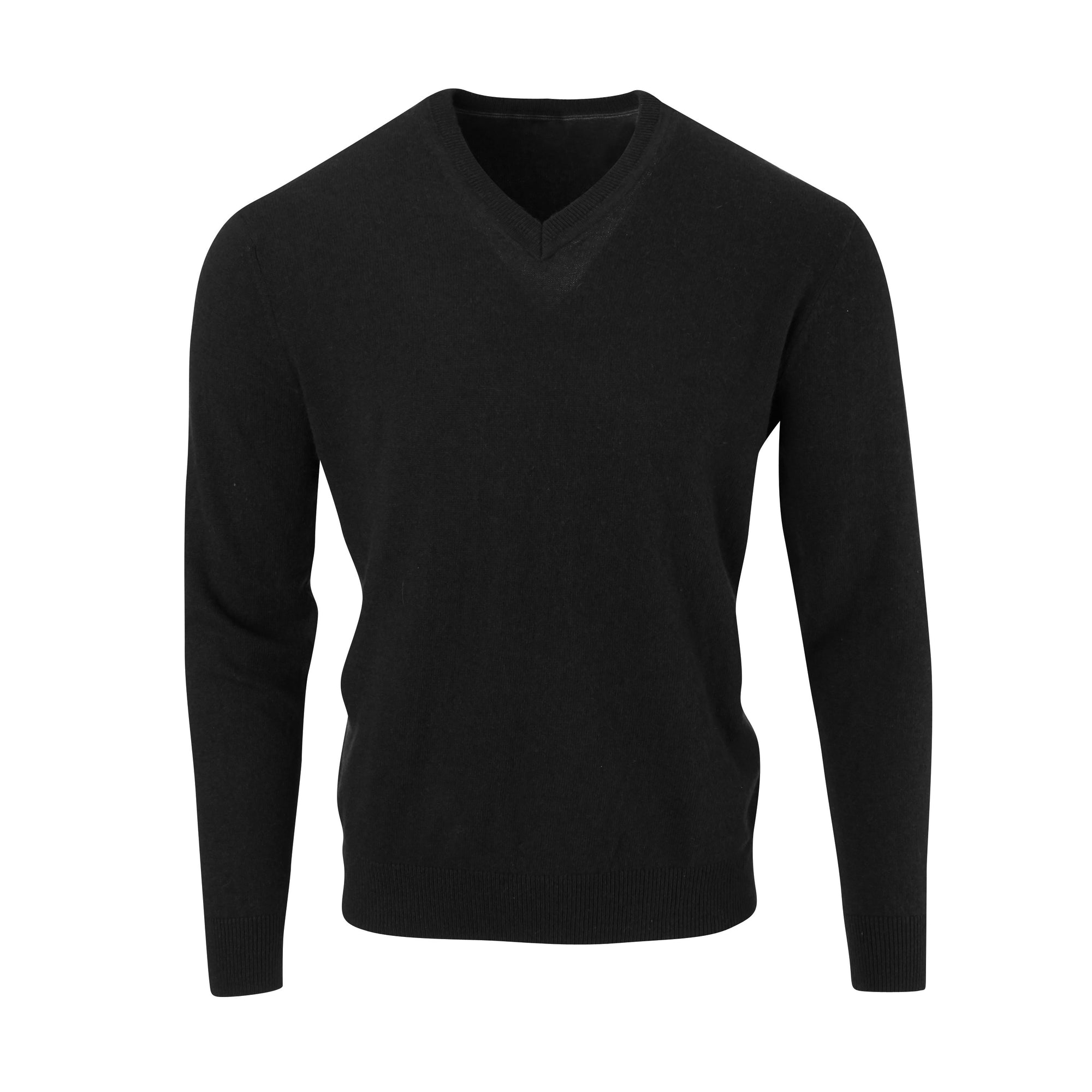 THE 5TH AVENUE CASHMERE V-NECK SWEATER - Black OS35709VLS