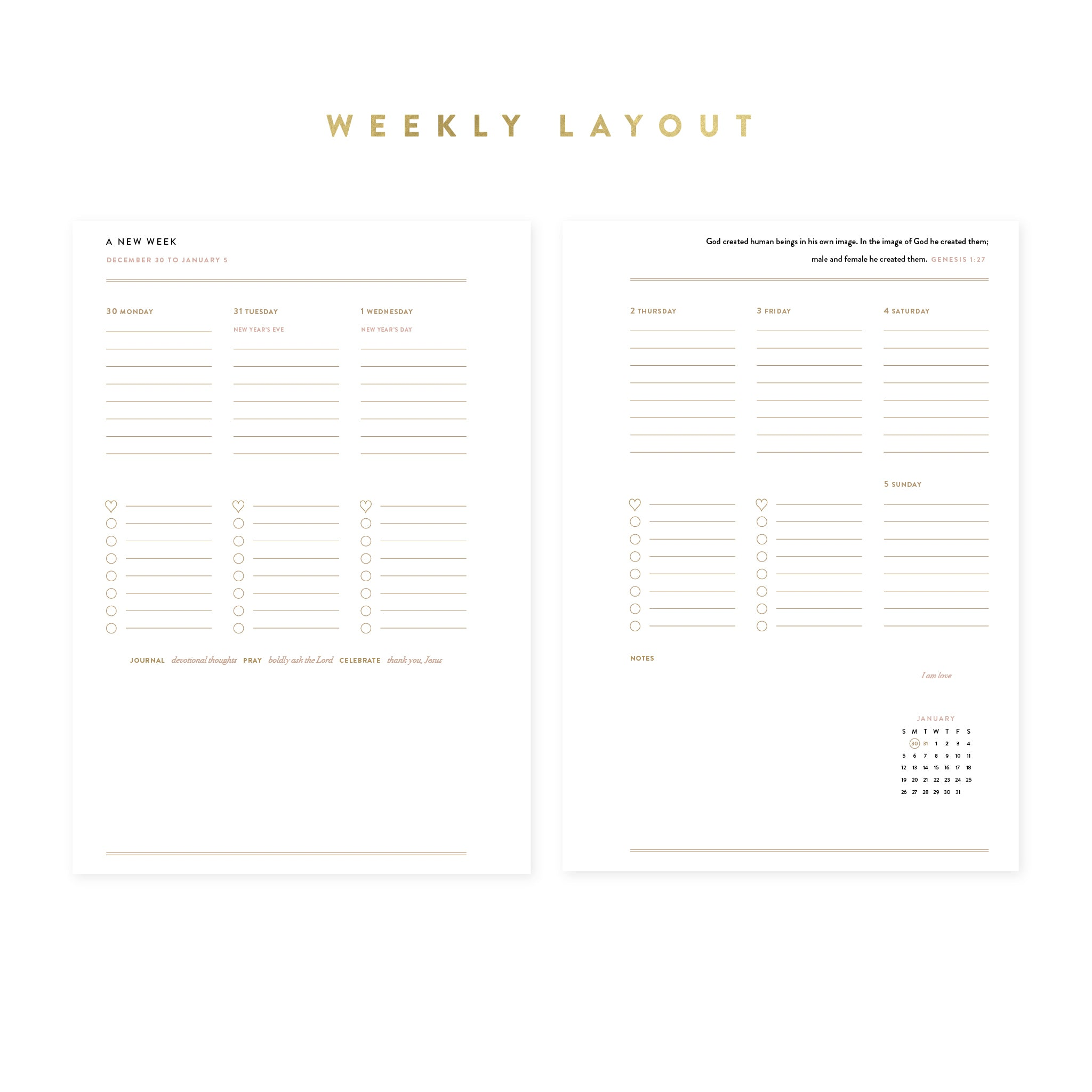 2020 Weekly Intentional Planner® Insert Pack