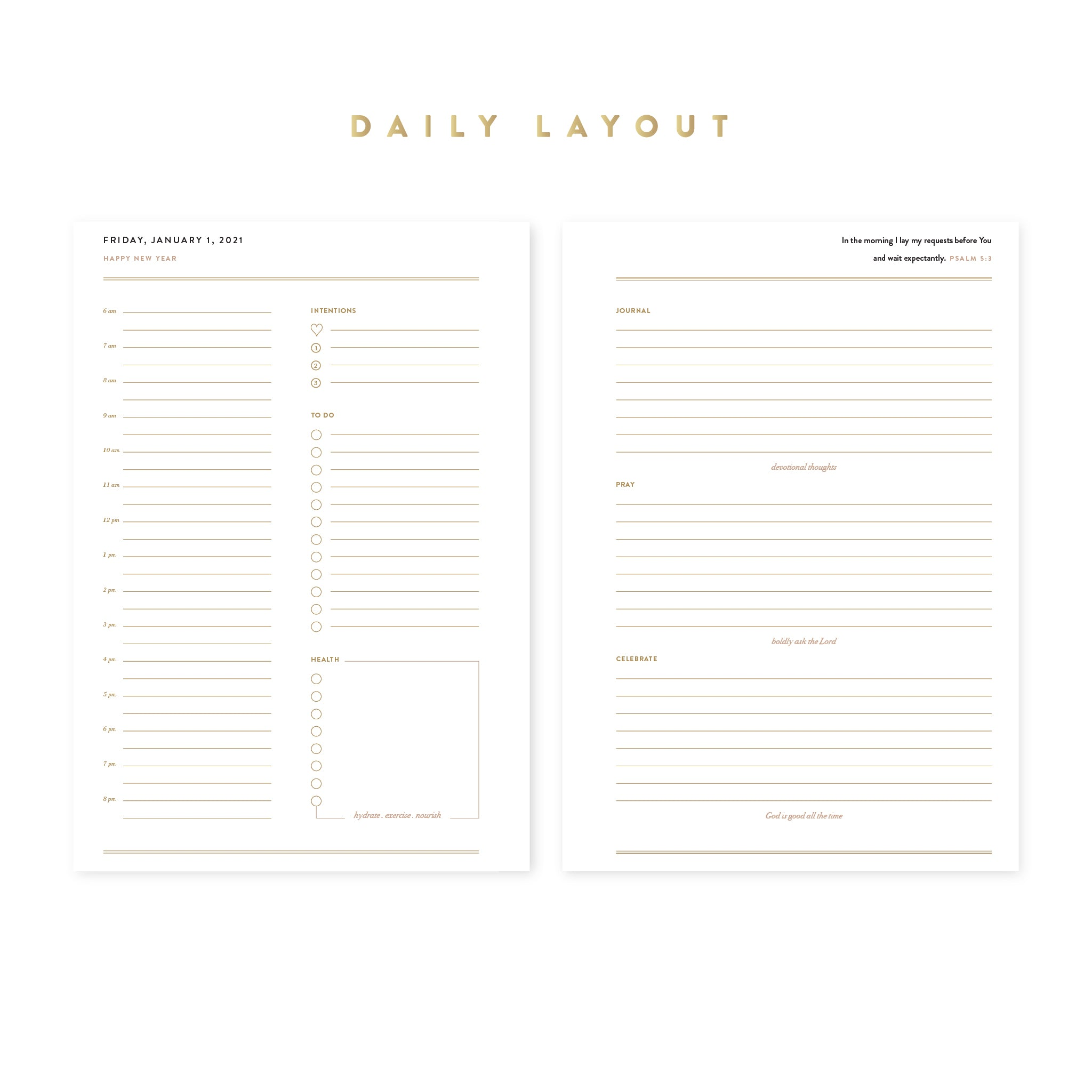 2021 Intentional Planner® White Bundle, Dated Daily