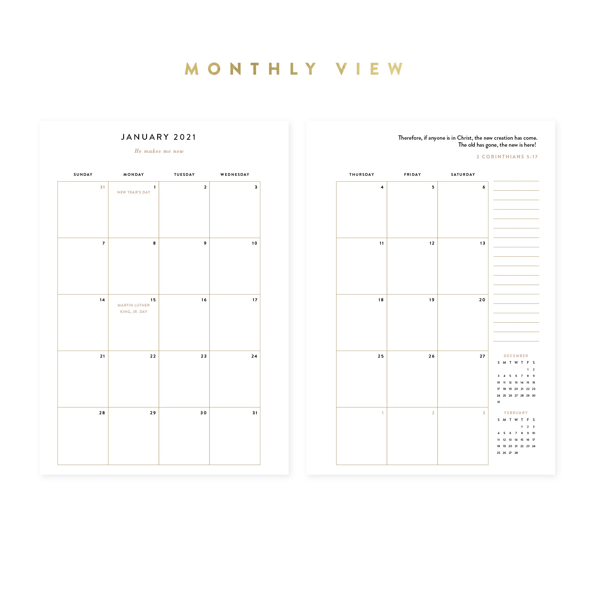 2021 Weekly Intentional Planner® Insert Pack
