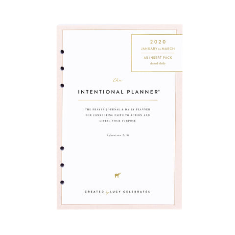 2020 Last 90 Days, Intentional Planner® Inserts