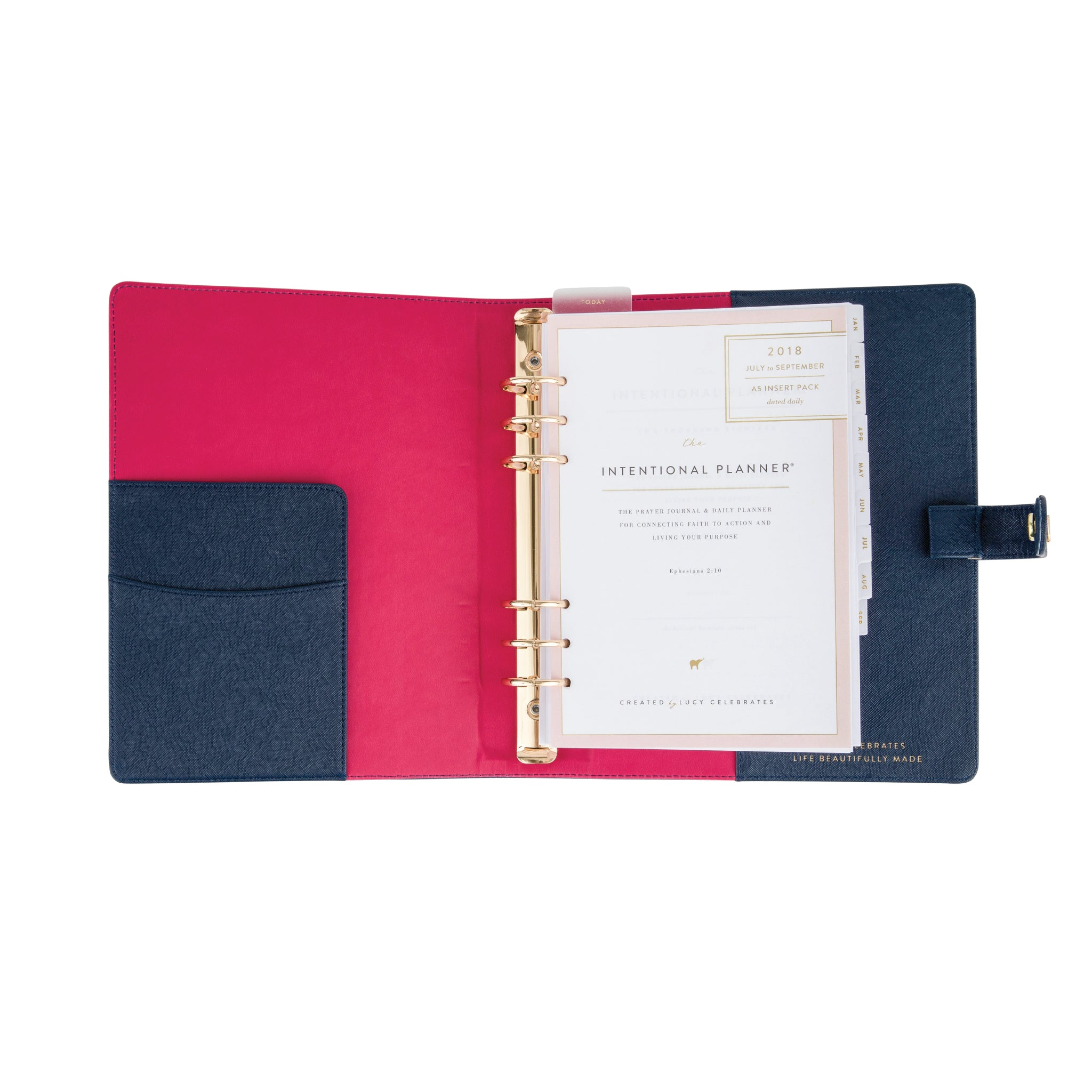 2019 Intentional Planner® Set, Navy Leatherette Binder