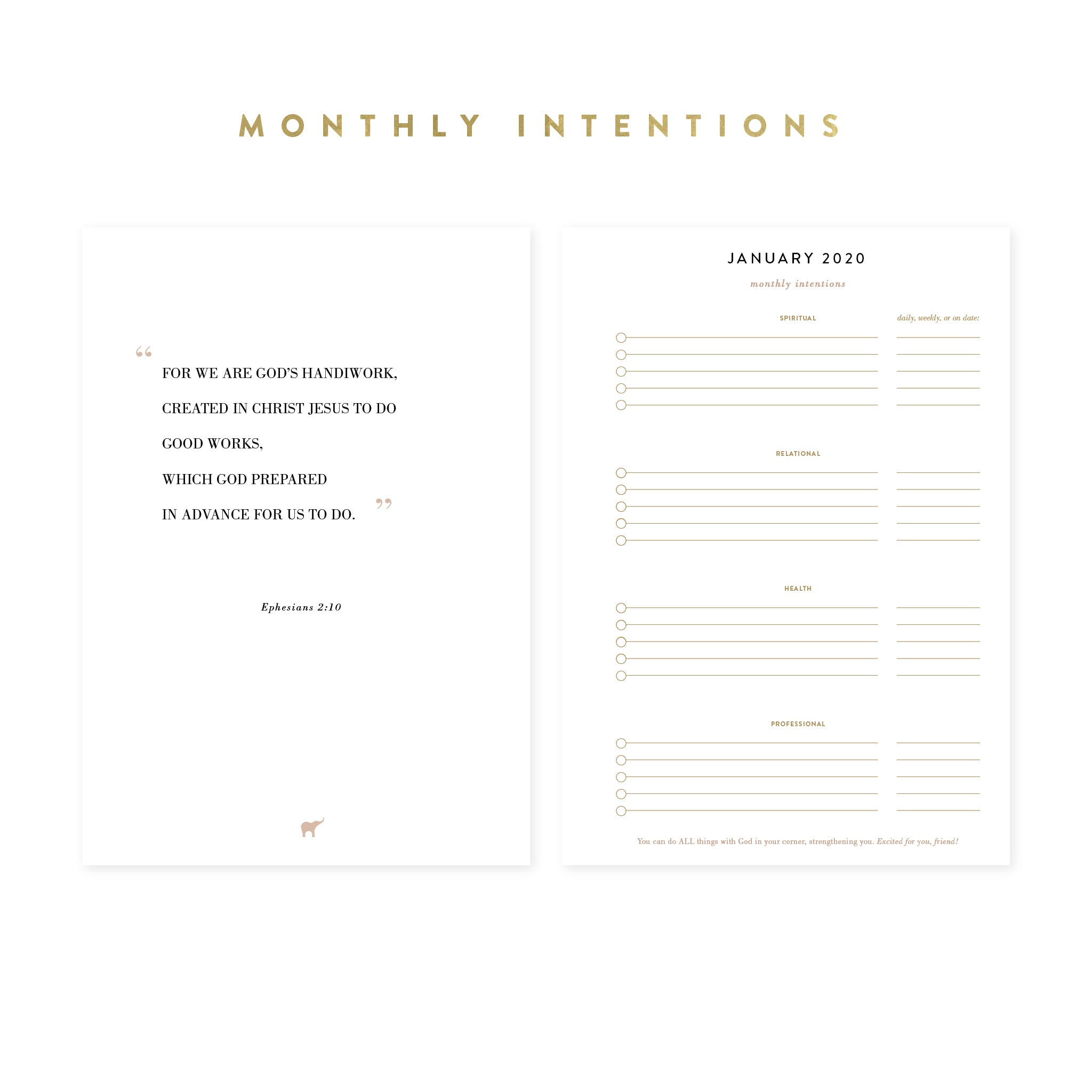 3-month Intentional Planner® Inserts