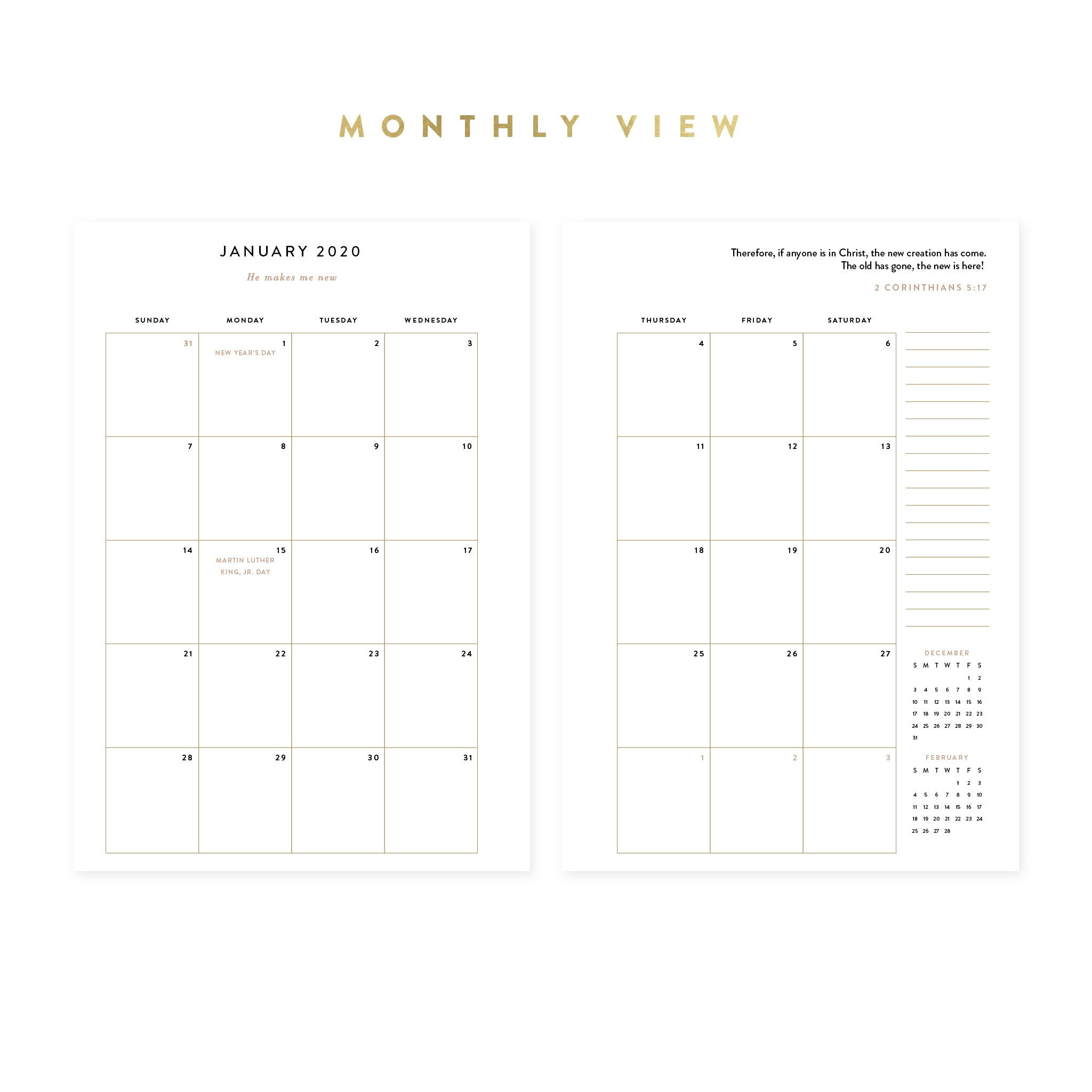 2020 Intentional Planner® Blush Bundle, Dated Weekly