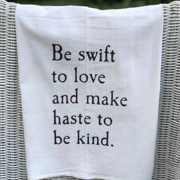 Swift to Love Tea Towel