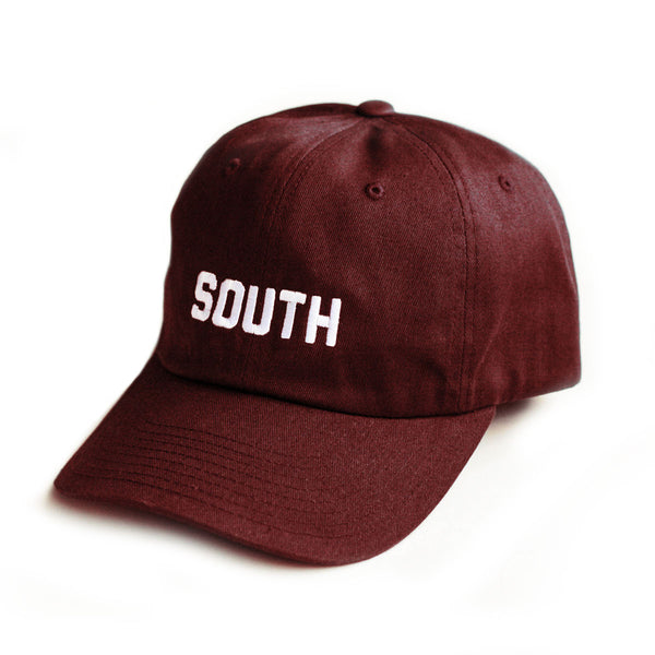 SOUTH Strapback Hat - Maroon