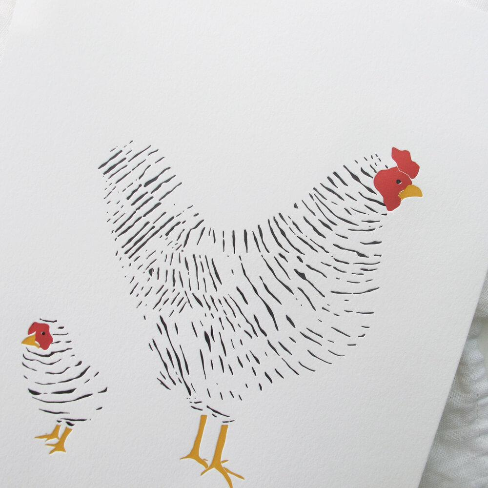 Hen & Chick Print by Brown Parcel Press