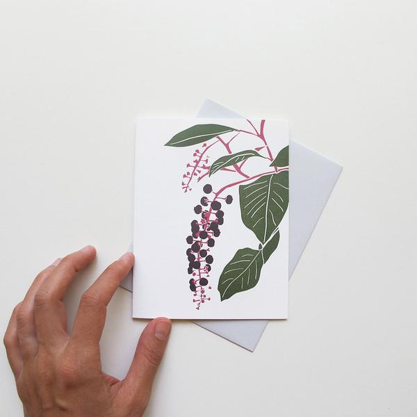 Pokeberry Card by Brown Parcel Press
