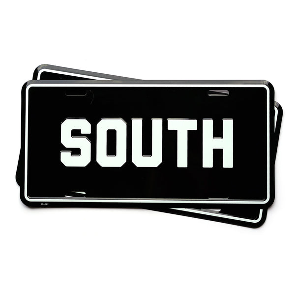 SOUTH License Plate