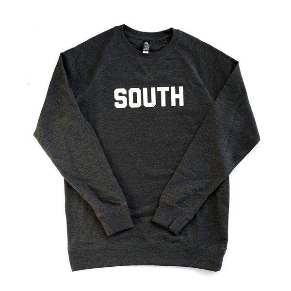 SOUTH Crewneck Sweatshirt (Stitched-Lettering Edition)