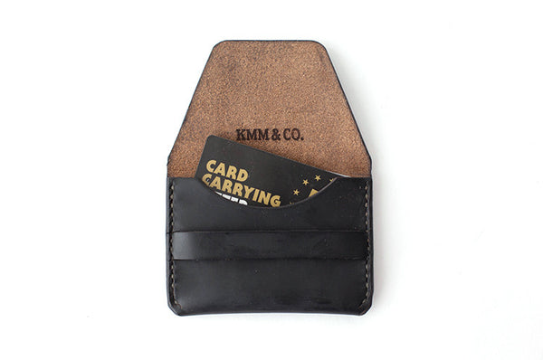 KMM & Co. Black Flap Wallet