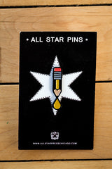 Pencil Ink Enamel Pin by Sean Mort