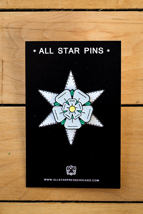 Flower Enamel Pin by Sean Mort