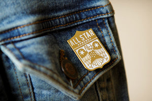 All Star Press Logo In Gold Enamel Pin