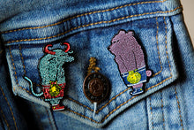 "Load image into Gallery viewer, ""Bear & Bull"" Pin Set by David Welker"