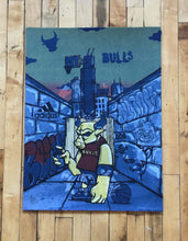 "Load image into Gallery viewer, ""Officially Licensed Chicago Bulls AP Test Print #10"" by JC Rivera"