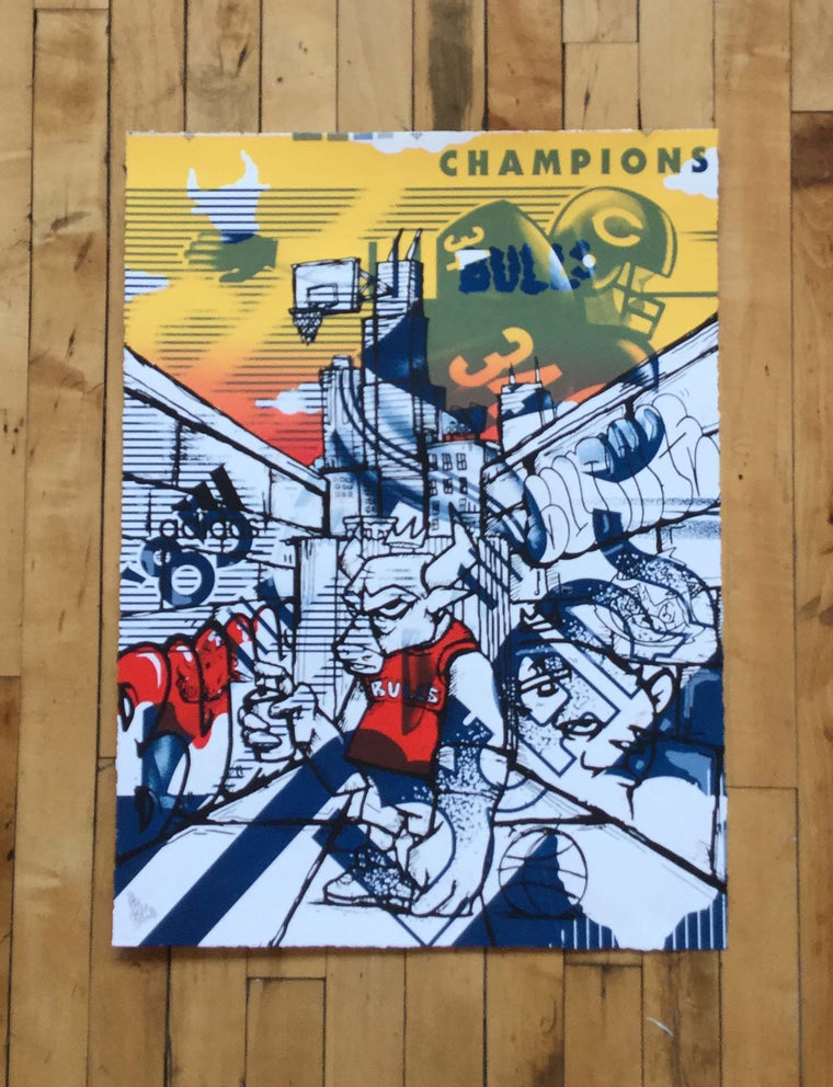 Officially Licensed Chicago Bulls AP Test Print #13 by JC Rivera