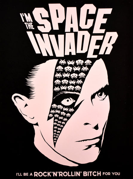 Space Invader - David Bowie Variant 3 by Butcher Billy
