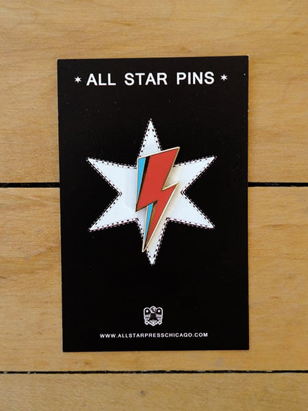 Lightning Bolt David Bowie Pin
