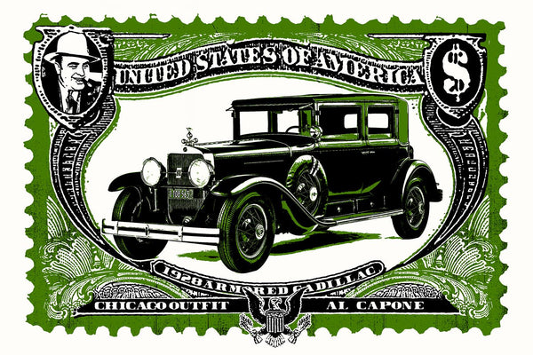 Capone Cadillac // Loaded Guns 2 Exclusive Print by Blunt Graffix