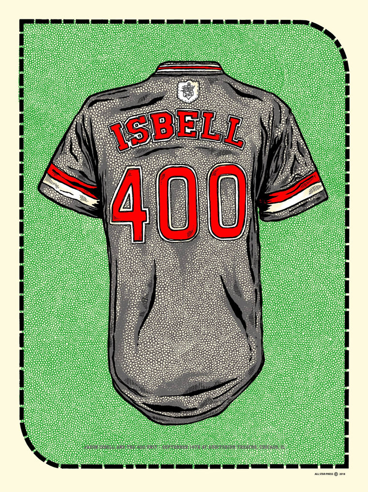 Jason Isbell Chicago Show Jersey 2018 Print by Fugscreens Studios