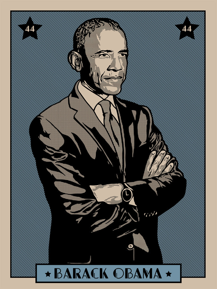 Barack Obama Print by Adam Shortlidge