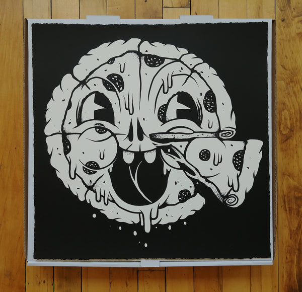 Junk Pizza Print by Junk Yard