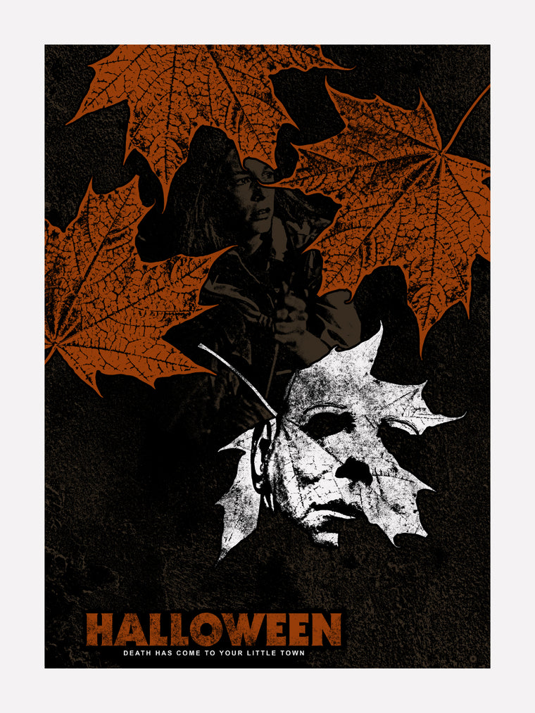 Halloween Leaf Print by Chris Garofalo