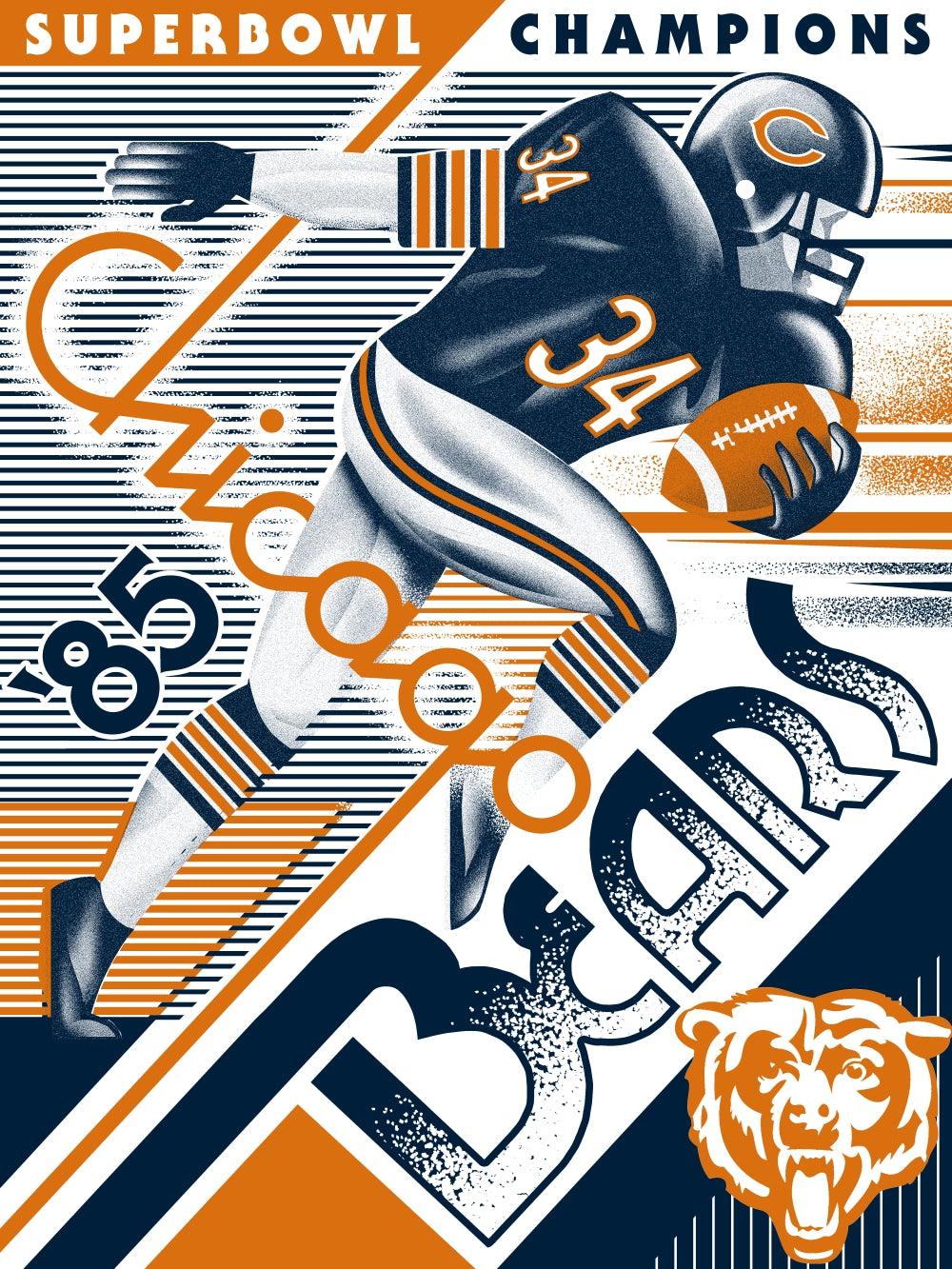 Chicago Bears Print by Jake.psd
