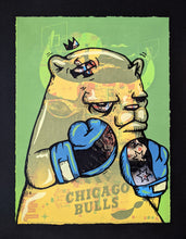 "Load image into Gallery viewer, ""Chicago Gloves Test Print: Chicago Bulls Blue"" by JC Rivera"