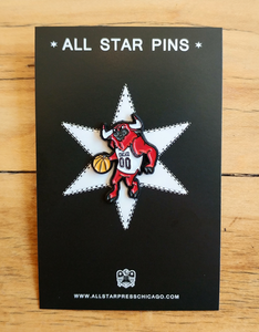 Bulls Pin by Ian Glaubinger