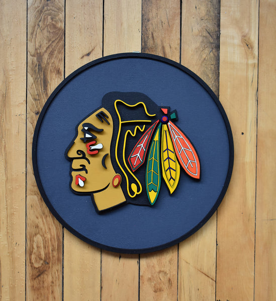 Blackhawks Plaque by Isabelle Tasseff-Elenkoff